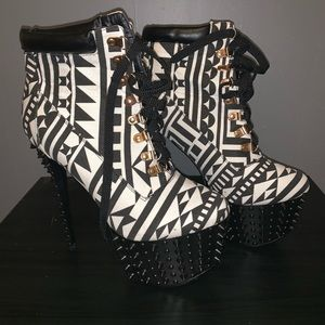 Privileged Shoes - Red Kiss Spiked heels new